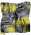 روسری طوسی زرد فسفری