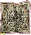روسری مجلسی طرح کاشی سبز
