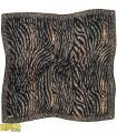 روسری پاییزه زمستانه نخی قواره بزرگ طرح پوست ماری کد 1342