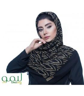 روسری مشکی طلایی حریر