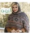 مدل روسری نخی پاییزه قواره بلند دخترانه شیک و جدید طرح سنتی