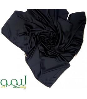 روسری مشکی مجلسی نگین دار