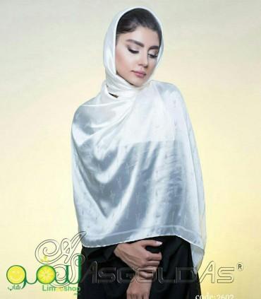روسری سفید مجلسی 148