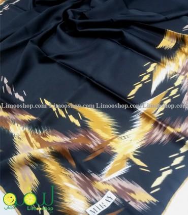 روسری مشکی طلایی 3674