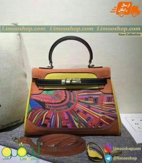 کیف هرمس نارنجی زرد