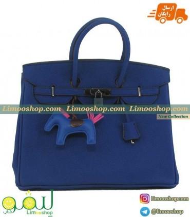 کیف هرمس آبی کاربنی