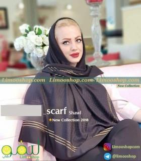روسری حریر مشکی مجلسی