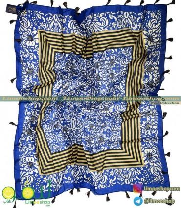 روسری آبی کاربنی