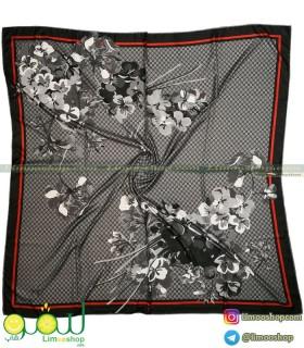 روسری گوچی گلدار مشکی
