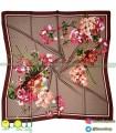روسری گوچی گلدار زرشکی