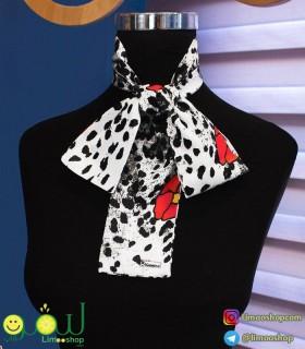 دستمال گردن سفید مشکی