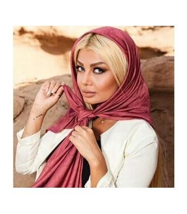 روسری نخی ساده قواره بزرگ