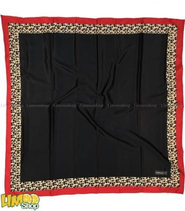روسری مشکی قرمز