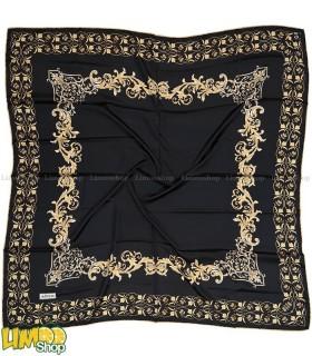 روسری مشکی طلایی 5690