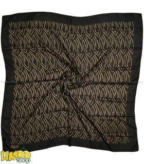 روسری مشکی طلایی