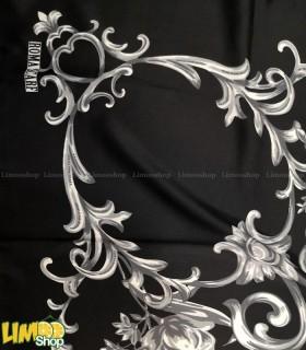 روسری مشکی سفید