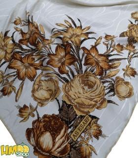 روسری سفید طلایی