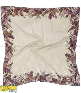 روسری سفید صورتی