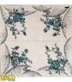 روسری سفید آبی