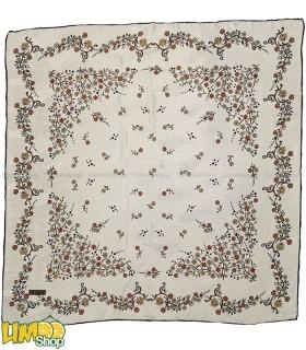 روسری سفید مجلسی