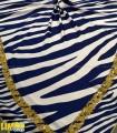 روسری سرمه ای سفید
