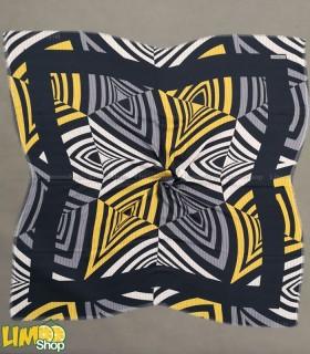 روسری طوسی زرد