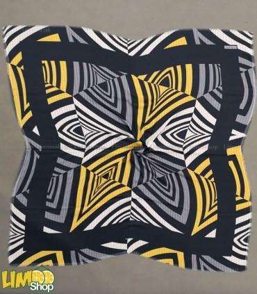 روسری نخی طوسی زرد