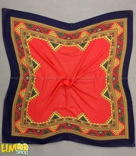 روسری قرمز سرمه ای