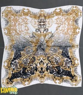 روسری طوسی سفید
