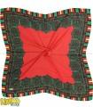 روسری حریر قرمز
